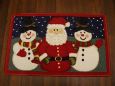 NON SLIP CHRISTMAS MAT 50x80CM SANTA SNOWMEN NEW WASHABLE DOORMAT GREAT QUALITY